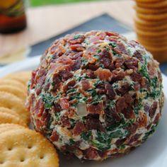Bacon Spinach Cheese Ball