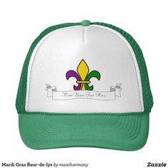 Mardi Gras fleur-de-lys Trucker Hat