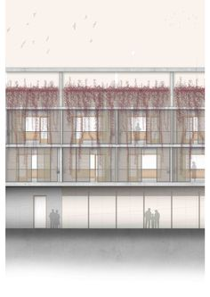 Residencia tercera edad, Montcada i Reixac. TFG ESARQ arquitectura, fachada exterior. rodrigo6489