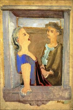 Mark Rothko - Untitled - Two Women at the Window, 1937. Oil on canvas, 91.4 x 61. National Gallery of Art, Washington, DC, USA