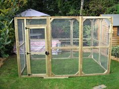 Outdoor Housing Tips & Examples - Page 2 - Rabbits United Forum A aviary is like a tall run. They are mainly designed for birds. You can buy them ready made or buy pre-made panels and put them together.