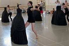 Boston Ballet prepares to perform a new program from Jirí Kylián Rehearsal Studios, Contemporary Ballet, Cool Dance, Green Table, New Program, Theater, Dancer, Ballet Skirt, Black And White