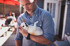 attractive male + small pup = <3