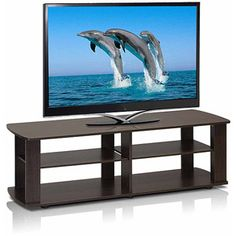 The Low Rise Entertainment Center TV Stand, Multiple Colors