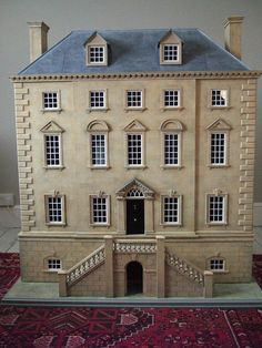 Grand Mansion great addition to New England town Fairy Houses, Play Houses, Doll Houses, Miniature Houses, Miniature Dolls, Dollhouse Dolls, Dollhouse Miniatures, Dollhouse Ideas, Doll House Plans