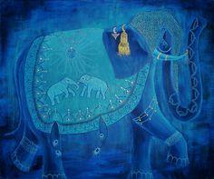 "Saatchi Art Artist Giba Barros; Painting, ""Elephant"" #art"