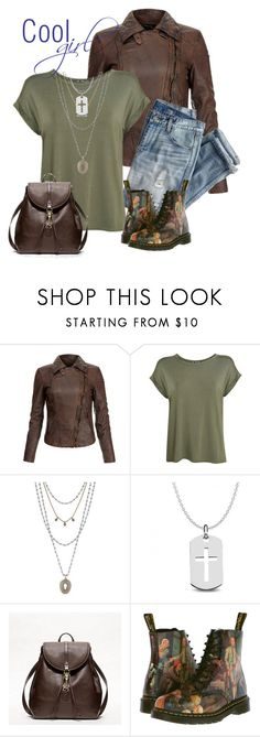 """""""cool girl"""" by sheryl-lee ❤ liked on Polyvore featuring MuuBaa, J.Crew, Pilot, Lucky Brand, Allurez, Coach and Dr. Martens"""