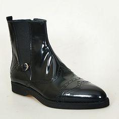 Paul Parkman black patent mens boots coming soon fw2014 collection #fw2014 #mensboots #fallwinter2014 #bootiesformen #paulparkman