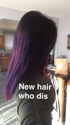 how to add purple tint to black hair