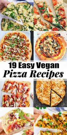 Vegans definitely don't have to miss out on pizza! These 19 vegan pizza recipes are super delicious and easy to make! They all make the perfect vegan dinner! Find more vegan recipes at veganheaven.org! #vegan #pizza #pizzarecipes Easy Vegan Food, Easy Vegan Recipes, Tofu Dinner Recipes, Healthy Pizza Recipes, Easy Vegan Dinner, Vegan Recepies, Vegan Meals, Vegan Comfort Food, Vegan Meal Prep