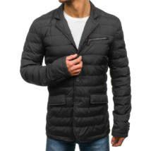 Elegáns férfi átmeneti kabát #392 fekete | Winter jackets