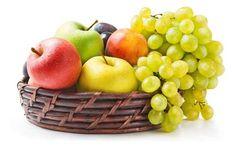 alma gyümölcs gyümölcskosár szőlő