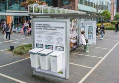To raise public awareness of recycling, Ikea teamed up with JCDecaux Hungary to install mini greenhouses with plants and recycle bins at a bus shelter in Budapest.