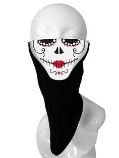 """Women's """"Dia De Los Muertos"""" Face Mask by Girls Gone Biker (Black) Neoprene Face Mask, Biker Wear, Skull Dress, Skull Face Mask, Mask Tattoo, Inked Shop, Biker Chick, Woman Face, Powerful Women"""