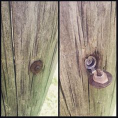 There's more to this rusty screw than meets the eye! Very tricky hide. Just remember you'd need to use an existing hole for this hide; you can't drill holes in something you don't own to hide a geocache. #IBGCp