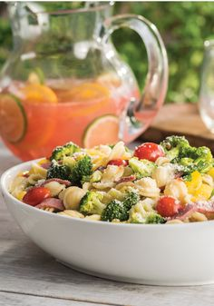 Farmer's Market Pasta Salad – Need a crowd-pleasing Memorial Day recipe? Orecchiette pasta, broccoli, tomatoes, peppers and salami are tossed with Italian dressing in this colorful and easy pasta salad recipe. For more Memorial Day recipes: https://kraft.promo.eprize.com/summer/hub?occasion=memorial_day