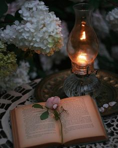Ana Rosa~My Favorites✨ Book Flowers, Deco Floral, Book Aesthetic, Candle Lanterns, Candels, Oil Lamps, Book Photography, Editorial Photography, Belle Photo