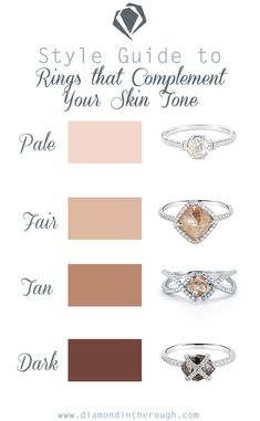 Looking for a more subtile engagement ring? We've paired the perfect rough diamond ring to each skin tone to make deciding a little bit easier!