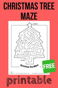 Get your child into the holiday spirit with this free printable Christmas maze! Christmas Worksheets, Christmas Activities For Kids, Free Christmas Printables, Christmas Maze, Kids Christmas, Printable Puzzles, Free Printable, Maze Worksheet, Homeschool Worksheets