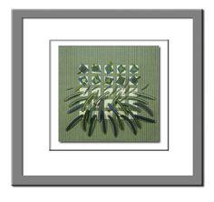 Fiber Art Handwoven Soft Green Sculpture by LauriedillKocher, $1600.00