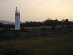 Sunset at the old Soviet observation tower at OP Alpha near Rasdorf, Germany. (looking east)