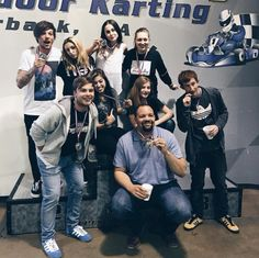 """Louis with friends and the girl band he's been working with. (4.1.16) ☆☆☆☆☆☆ They went to Racer's Edge Indoor Karting in Burbank, California. ¤¤¤¤  via IG 