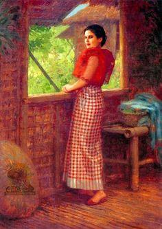 Dalagang Filipina by Fernando Amorsolo, 1927 *I am so happy- I've never seen… Filipino Art, Filipino Culture, Philippine Art, Philippine Fashion, Filipino Fashion, Asian Fashion, Manila, Filipiniana, San Fernando