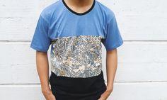 Triplet Batik In Blue Tshirt ? Mens Tshirt, Handmade, Man Clothing, tops tees, Unique clothing, gift for boyfriend tshirt, mens fashion
