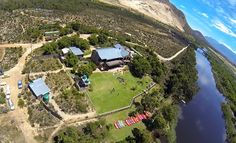 Aerial view of Bonamazi on the breede river