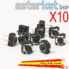 a 10x pulsador 6x6x5mm 2 pines botones switch arduino raspberry pin boton pins pic
