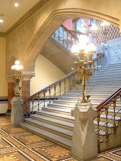 Lobby and Grand Staircase of the Historic Landmark Building at PAFA - Pennsylvania Academy of the Fine Arts