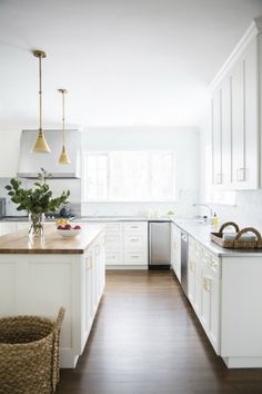 white and airy kitchen #kitchen #cabinets #home #space #design #decor