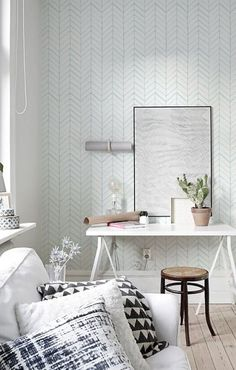 Removable Wall Paper- High-Impact Rental Upgrades to Dramatically Improve Your Living Room