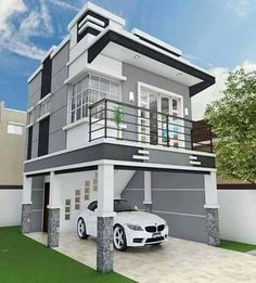 An ideas for exterior house designs Best House Plans, Modern House Plans, Modern House Design, Floor Design, Ceiling Design, Plafond Design, Bungalow Exterior, Roof Architecture, Roof Styles