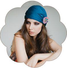 Ethnic-Tribal Haarband oder als Ethnic-Tribal Cap! Trend 2015, Haarband in Orange, Bronze, Blau, Lila.