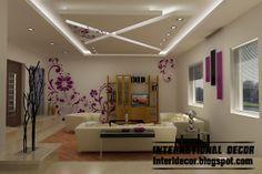 Modern pop false ceiling designs for bedroom interior,suspended gypsum false ceiling