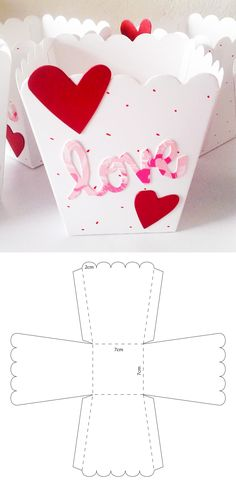 Diy Gift Box, Diy Box, Diy Gifts, Diy For Kids, Crafts For Kids, Diy Paper, Paper Crafts, Paper Box Template, Papier Diy
