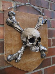 Hand made Pirate Shield from Catacomb Emporium UK