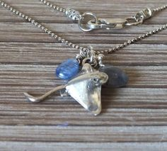 Sterling Silver Stingray Charm Necklace with by ABitOfNature