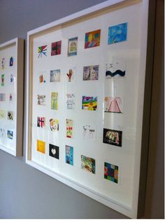 Take your children's art from school, digitize it, shrink it, and put it together in this super-chic collage