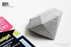 DIY: Diamant af beton Beton Støbning, DIY | 2 Kommentarer