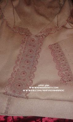See related links to what you are looking for. Moroccan Caftan, Moroccan Style, Couture Embroidery, Hand Embroidery, Embroidery Suits Design, Lacemaking, Hand Stitching, Needlework, Elegant