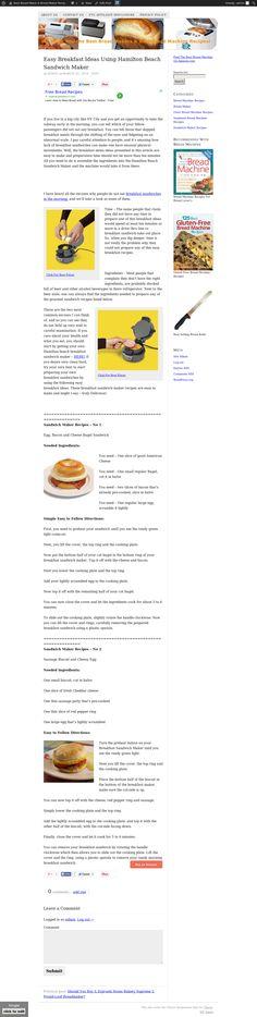 Easy Breakfast Ideas Using Hamilton Beach Sandwich Maker > http://breadmakerrecipes.net/bread-machine-recipes/easy-breakfast-ideas-using-hamilton-beach-sandwich-maker/