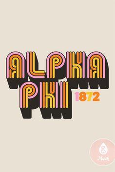 Retro Text   Geneologie   Alpha Phi   Bid Day   Sisterhood   Rainbow Type Neon Rainbow, Alpha Phi, Bid Day, The Girl Who, Festival Wear, Good Books, Cool Style, Mood, Type