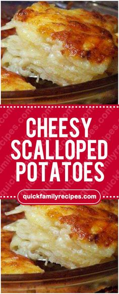 INGREDIENTS: 4 cups thinly sliced potatoes 3 tablespoons butter 3 tablespoons flour 1 cups milk 1 teaspoon salt 1 dash cayenne pepper 1 cup grated sharp cheddar cheese cup grated cheese, to sprinkle Scalloped Potatoes Quick, Scalloped Potato Recipes, Velveeta Recipes, Crockpot Recipes, Cooking Recipes, Cheddar Cheese Soup, Grated Cheese, Quick Family Meals, Family Recipes