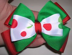 diy stacked hairbow on http://girlythingsbows.com