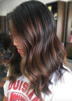 Balayage Hair Trend: Balayage Hair Colors & Balayage Highlights: Warm Copper Balayage
