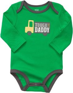 Carters Baby Boys Long Sleeve Bodysuit Newborn Tough Like Daddy *** See this great product.