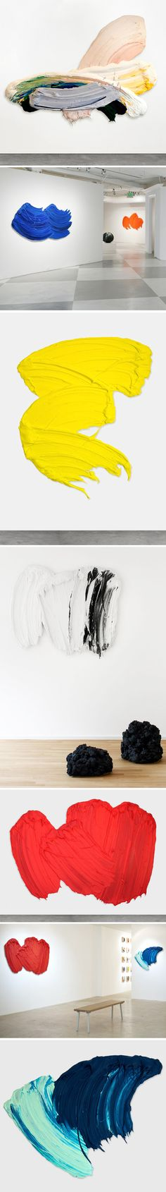 sculptures (that look like big juicy paint strokes!) by donald martiny