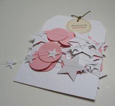 Paper Garland 13 Feet Long Pink and White Circles by polkadotshop
